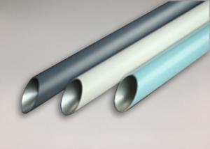 China High Intensity Aluminium Tube Profiles Bright Silver Anodized Weather Resistance on sale