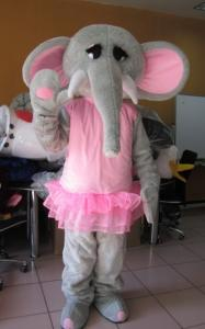 Quality Custom Cartoon Character elephant mascot costumes with Good ventilation for sale