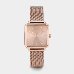 China 38mm Unisex Ultra Thin Alloy Quartz Watch Rose Gold PVD Plating For Women on sale