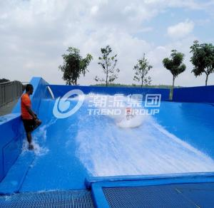 Quality Surfing Flowrider Water Ride Extreme Sport Fun 21.7m * 13.4m For Aqua Park for sale
