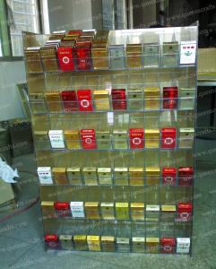 China CD (35) Clear Acrylic Tobacco Display Stand on sale