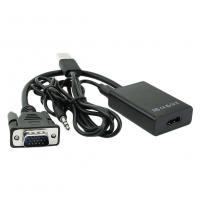 China VGA Male To HDMI 1080P HD + Audio TV HDTV Video Converter Adapter with Cable on sale
