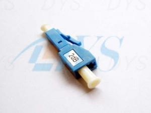 China LC 2 dB Blue Fiber Optic Attenuator Environmental Stable With 1240nm - 1620nm Wavelength on sale