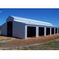 China Galvanized steel corrugated sheet pre-engineer custom steel buildings for barn on sale