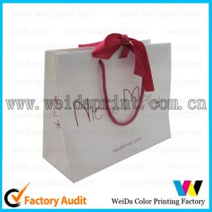 China Colorful Gold Stamping 80gsm Brown Kraft Paper Carrier Bags Printed for Shopping? on sale