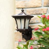 China Motion Sensor Solar Powered Outdoor Wall Lights , Solar Outdoor Wall Lantern on sale