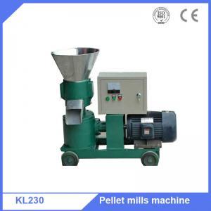 China Poultry feed capacity 300-400kg/h flat die pellet press machine on sale
