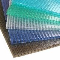 China Opal Blue Green Hollow polycarbonate building panels / PC Plastic Sheet for Agricultural on sale