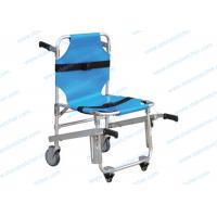 China Safety Folding Aluminum Alloy Evacuation Stair Chair With Belts Easy Cleaning on sale