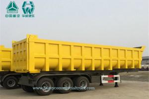 China 24 Cbm Dump Tipper Semi Trailer 24 Cubic Meter Volume With Customized Logo on sale