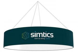 China Decorative Squre shape Round shape hanging ceiling banner/flying banner for advertising on sale