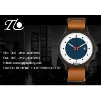 pu leather band cute double color dial fashion ladies watch with calendar