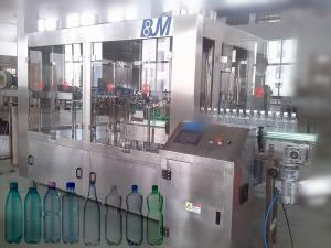 China 6000BPH 500ml Automatic Bottle Filling Machine , 18-18-6 Rinser Filler Capper Machine on sale