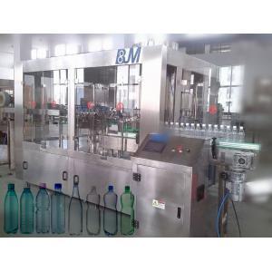 China 6000BPH 500ml Automatic Bottle Filling Machine , 18-18-6 Rinser Filler Capper Machine on sale