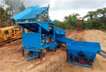 Gold washing trommel plant with jigger for diamond and chute for gold mining