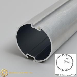 China 38mm 40mm aluminium roller blind tubes double grooves mill finish 1.25mm thickness two slots on sale