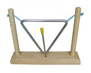 China Instrument de musique de jouet de triangle de cadre de fer avec le jouet en bois de support de percussion en bois de main on sale