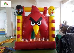 China Airtight Angry Bird Inflatable Jumping Castle With Hand Printing on sale