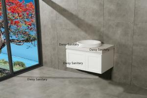China Water Saving Modern White Bathroom Vanity on sale