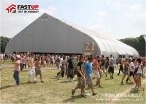 China White PVC Cover Canopy Party Tent Curve Tent For Catering 300 People Seater on sale