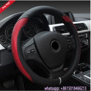China Colorful black grey beige red Amaon hot sell car steering wheel cover from China supplier on sale