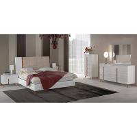 Scratch Resistant High Gloss Hotel Bedroom Furniture Sets , 6 Drawer Dresser