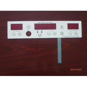 China Custom Embossed Metal Dome Membrane Switch Overlay With Led And Rubber Keys on sale