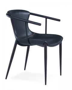 China Modern Metal Wood 51x60x80cm Black Painted Dining Chairs on sale