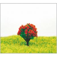 HO Custom 2.5cm Red Miniature Model Trees with Plastic
