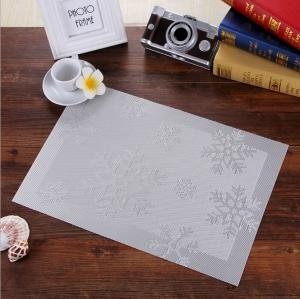 China jacquard weave textilene table mat PVC placemats 45*30 cm meal mats on sale