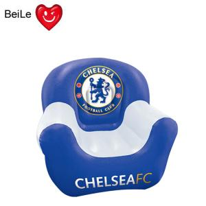 China 0.25mmPVC material World Cup fans blue colour inflatable football club sofa on sale