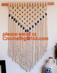 China MACRAME LADIES BAG, MACRAME PLANT HANGING, MACRAME HANGING, MACRAME CUSHION COVER, MACRAME HAND BAND on sale