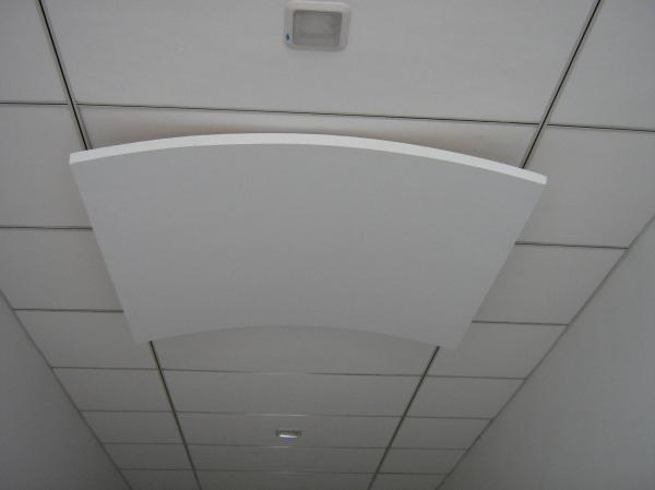 Lightweight Soundproofing Fiberglass Wool Curved Ceiling Panels 12mm Thickness Images