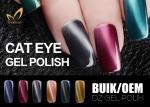 Smooth Natural Gel Nail Polish , Cat Eye Magnetic Nail Polish For Nail Salon