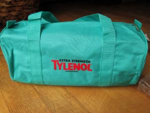 China Extra-Strength Tylenol gym bag pharmaceutical promotional item on sale