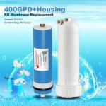400GPD Umkehrosmose Wasser Filter Ersatz + Gehäuse RO Membran Universal HOT