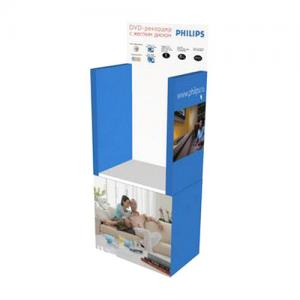 China Shoe Cardboard Display Shelf , Eco-Friendly Easel Display Rack on sale