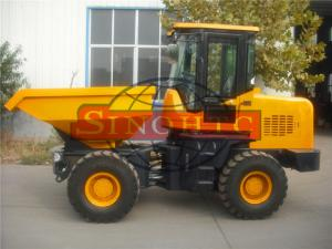 China Construction / Articulated Front Loading Dumper3 Tons Loading 2 Axles 4x4 Driving on sale