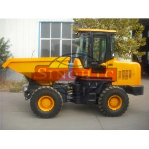 China Construction / Articulated Front Loading Dumper 3 Tons Loading 2 Axles 4x4 Driving on sale