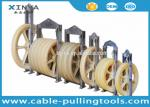 660mm Diameter Bundled Conductor Pulley Stringing Pulley Block With Nylon Wheel