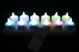 China color change led candle lights with remote on sale