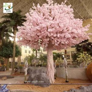Uvg Indoor Cherry Blossom Artificial Tree With Pink Flowers