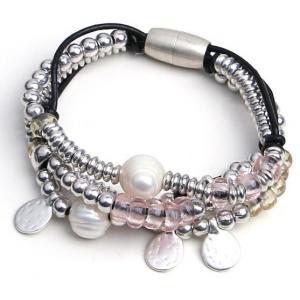 China jewelry bracelet multi rows black real leather bio magnetic bracelet men, health magnetic jewelry men bracelet magnetic on sale