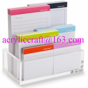China Hot selling in America durable transparent table top acrylic memo holder on sale