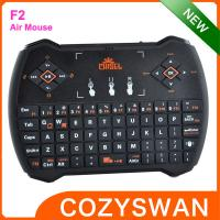 China Chisel F2 remote control Air Fly Mouse 2.4G wireless keyboard on sale