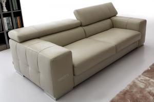 Quality Leather lobby sofa saloon leather sofas , modern leather sofas for sale