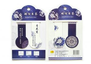 China Personalise Printed Purple Mini Magnetic Bookmarks with 60 x 20mm Fold Christmas Gifts on sale