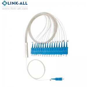 China 1X16 Fiber Optic Passive Blockless  PLC Splitter, SC/APC Connector, G657A2 on sale