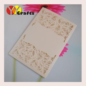 China Flora Wedding Invitation Card with blank part for your printing or laser cutting on sale