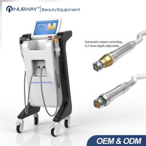 China New arrival two handle pieces RF micro needle wrinkle removal ance removal skin rejuvenation  machine on sale